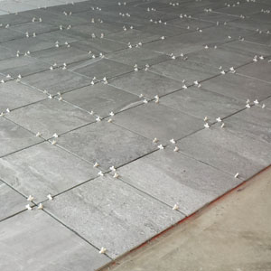 Our New White And Gray Porcelain Tile Garage Floor