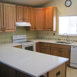 Upgrading From Laminate To White Quartz Kitchen Countertops