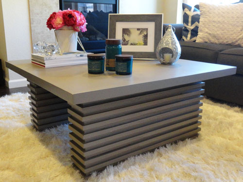 how to make your own coffee table cheapest house on the block. Black Bedroom Furniture Sets. Home Design Ideas
