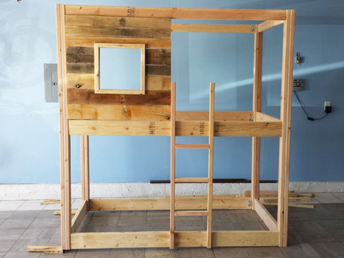 how to build a bunk bed from scratch cheapest house on the block. Black Bedroom Furniture Sets. Home Design Ideas